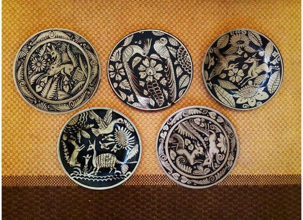 Buy Mexican Design Antique Wall Decor Plates At Lowest