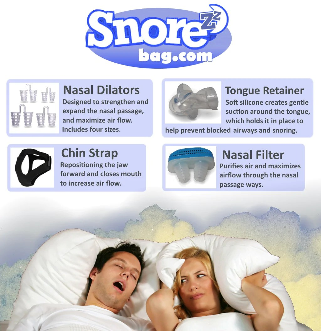 Stop Snoring Aids Stop Snoring Aids 4 Anti Snore Solutions Tongue Retainer Nasal Filter 4 Nasal Dilators Chin Strap