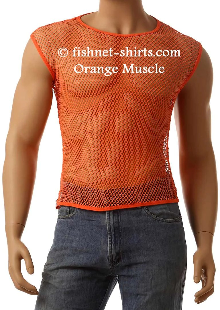Muscle Shirt Vintage 80 S Mens Mesh Fishnet Sleeveless Muscle Lingerie Underwear Top T Shirt 368