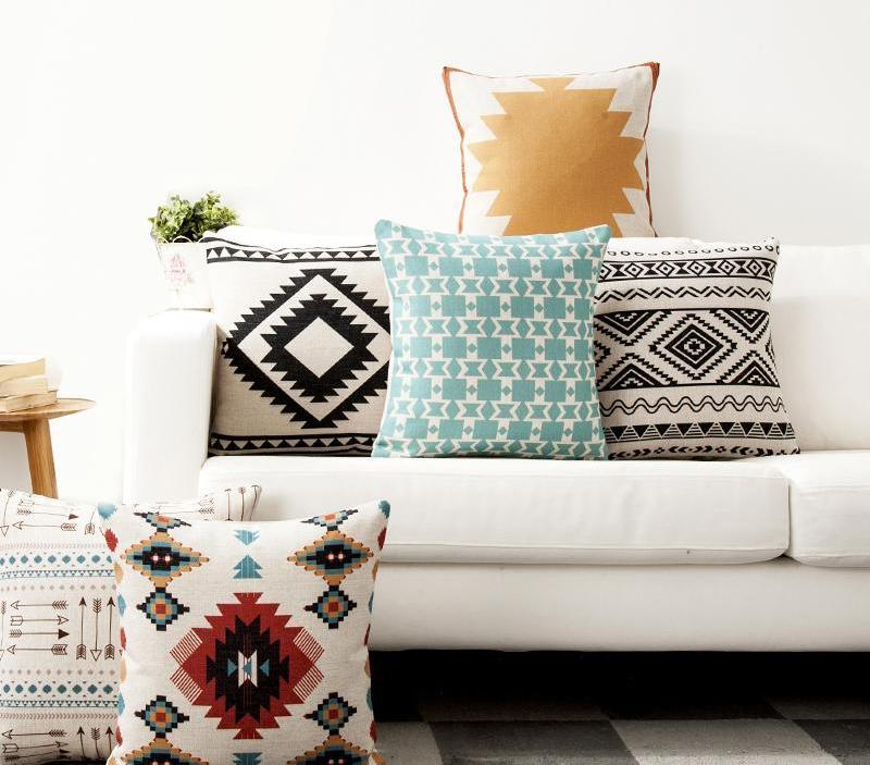 Shabby Couch Scandi Style Throw Pillows Sale | Nordic, Boho, Ethnic
