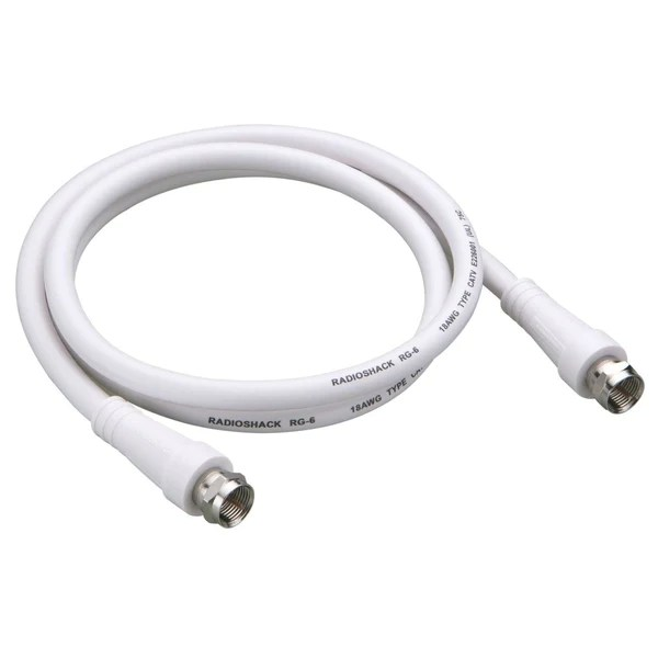 Coaxial Cable 3ft Rg6 Coaxial Cable White