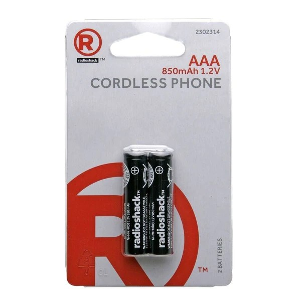 Aaa Baterien Aaa Ni Mh Cordless Phone Rechargeable Batteries 2 Pack