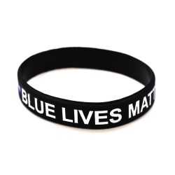 Small Crop Of Thin Blue Line Bracelet