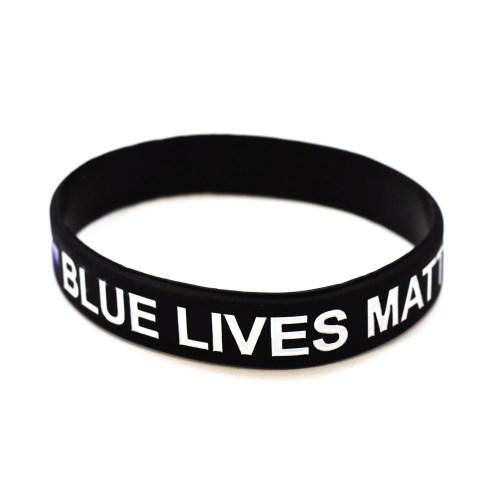 Medium Crop Of Thin Blue Line Bracelet