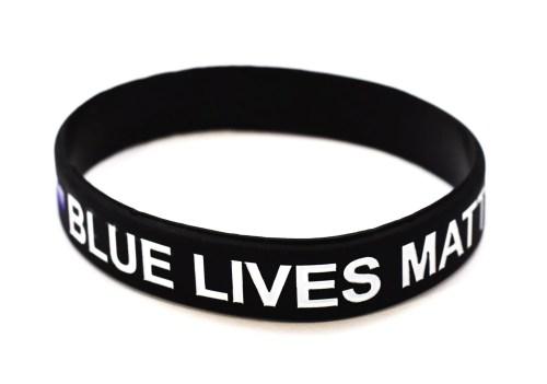 Medium Of Thin Blue Line Bracelet