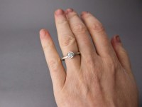 Diamond Engagement Ring - 1/4-1/2 Carat Solitaire Ring ...