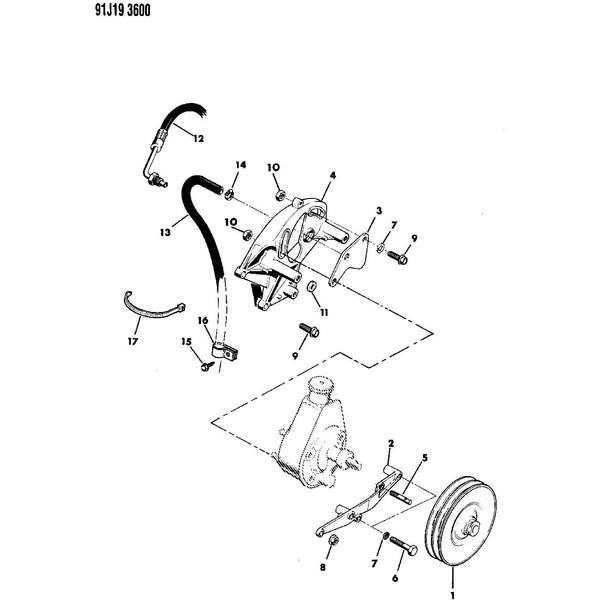 power steering gearbox mounting bracket jeep cj5 19761983 cj7 1981