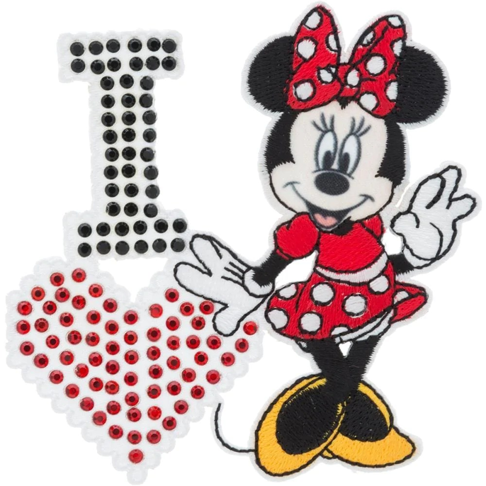 Disney Mickey Disney Mickey Mouse Iron On Applique I Love Minnie Mouse 6725