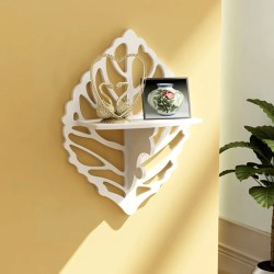 Small Of Wooden Shelves On Wall