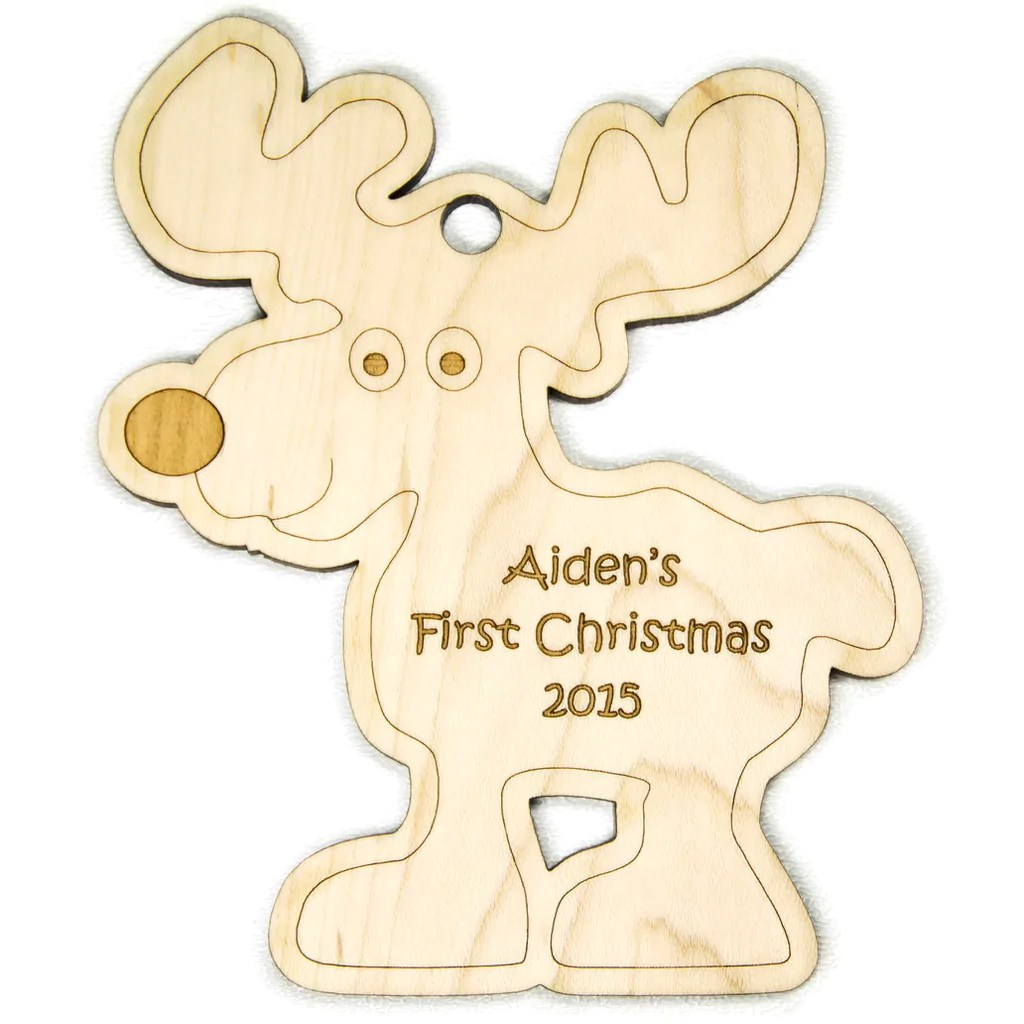 Excellent Ornament Reindeer Personalized Wooden Wonders Ornament Reindeer Personalized Handmade Baby S Ornament 2017 Hallmark Baby S Ornament Canada baby Babys First Christmas Ornament