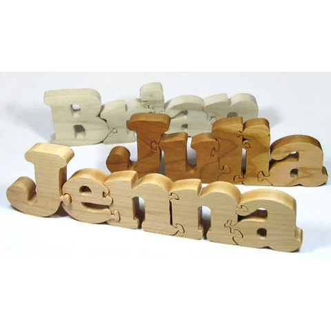 Personalized Wood Name Blocks Custom Letter Blocks
