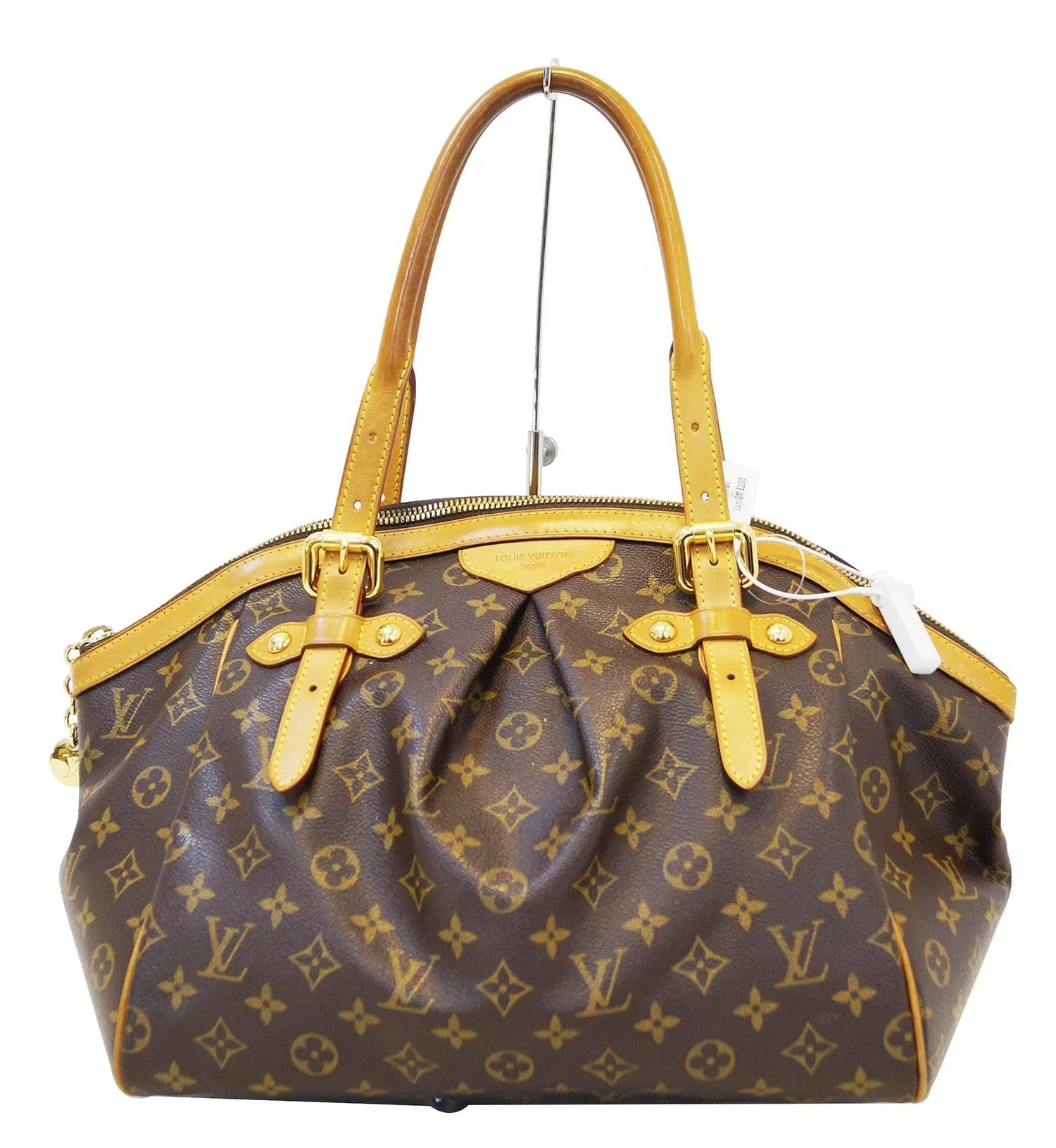 Louis Vuitton Tivoli Vs Palermo Authentic Louis Vuitton Monogram Tivoli Gm Brown Tote Bag E3085