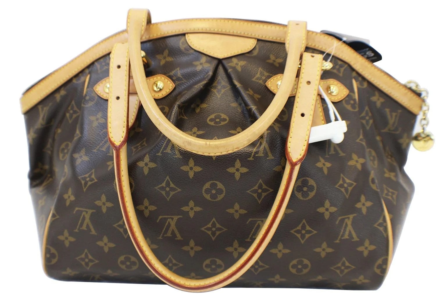 Tivoli Gm Authentic Louis Vuitton Monogram Tivoli Gm Brown Tote Shoulder Bag E31