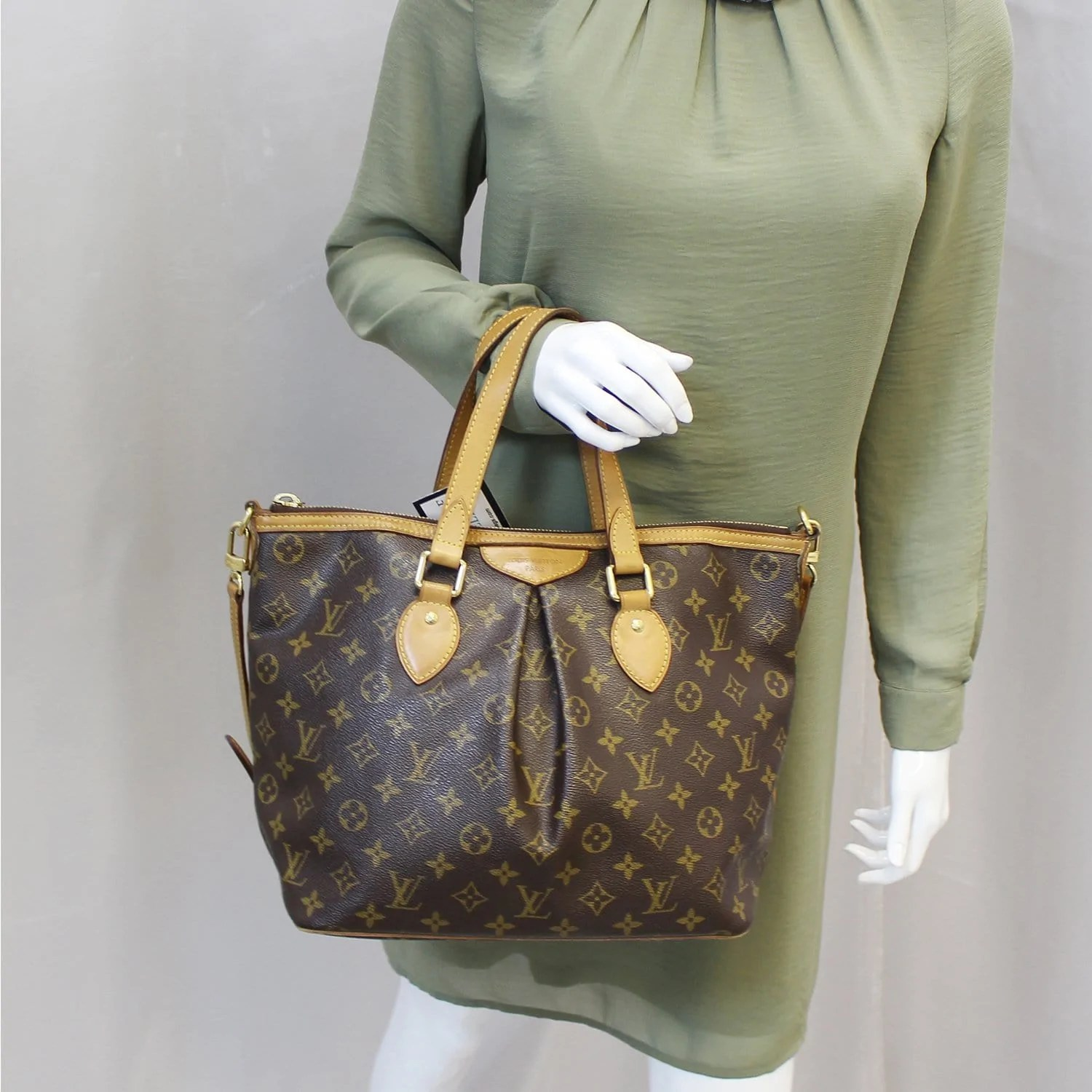 Louis Vuitton Tivoli Vs Palermo Louis Vuitton Monogram Canvas Palermo Pm Brown Shoulder Bag Us