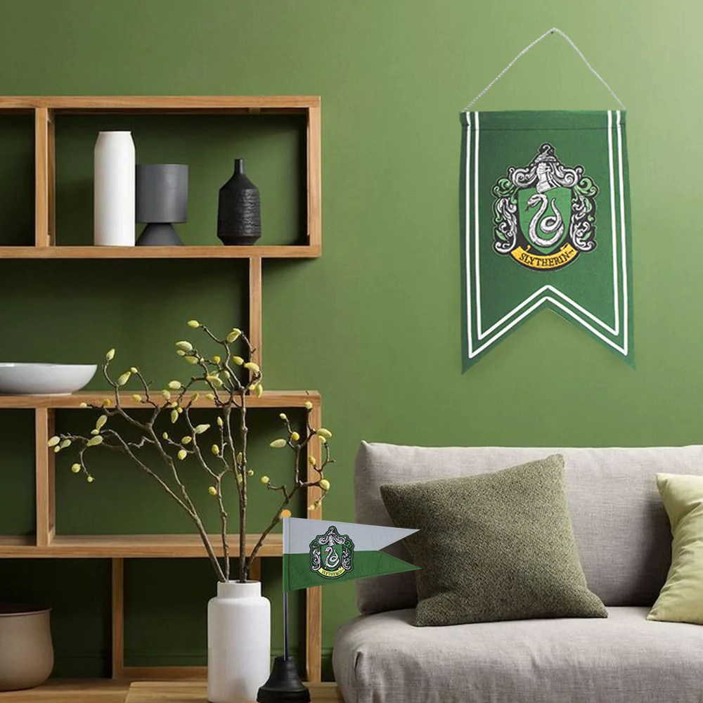 Decoration Chambre Usa Harry Potter Decoration Slytherin Banner Flag Set
