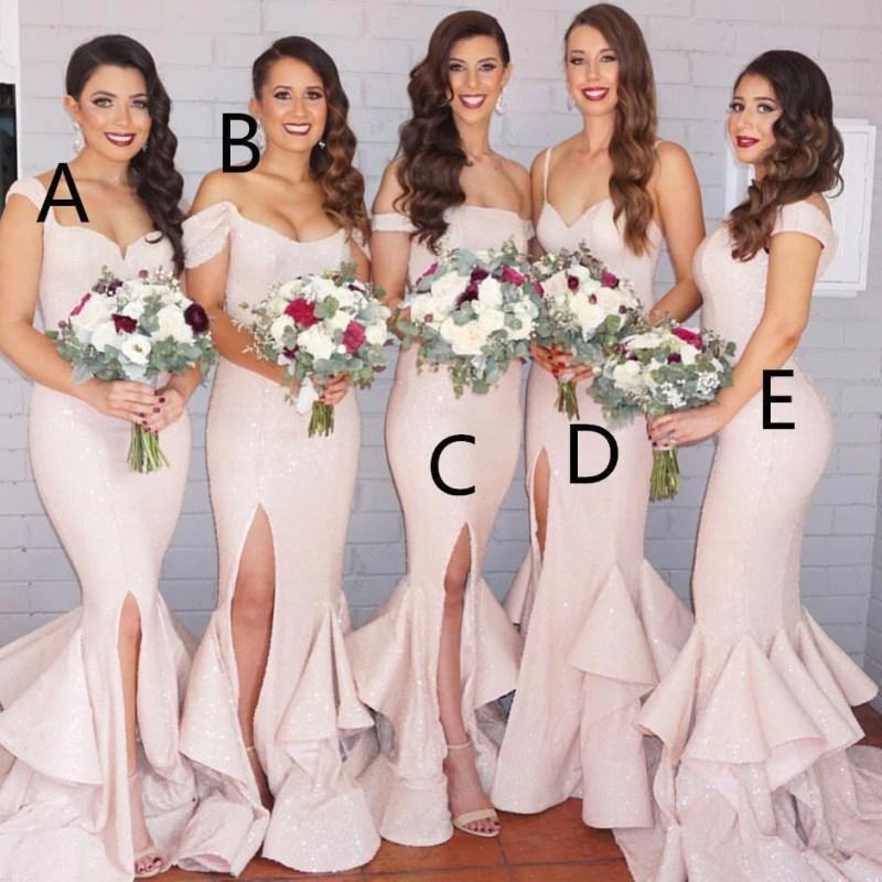 Large Of Blush Pink Bridesmaid Dresses