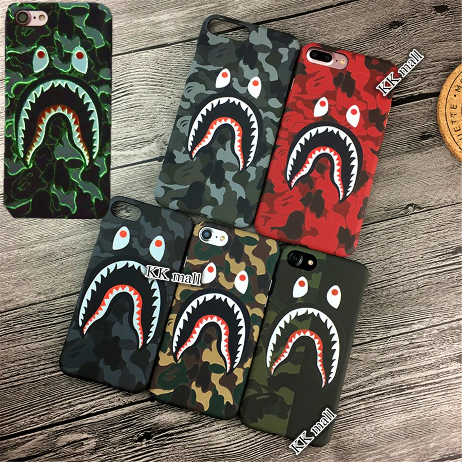 Iphone Product Red Wallpaper Bape Shark Iphone Case Phonejelly