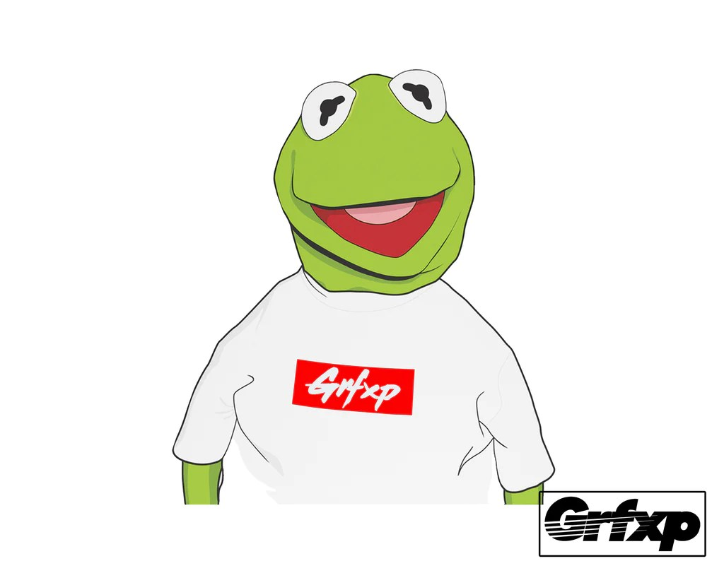 Import Car Wallpapers Grfxp Kermit Supreme Style Printed Sticker Grafixpressions