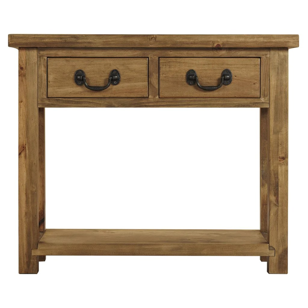 Console With Drawers Cotswold Rustic Console Table With 2 Drawers