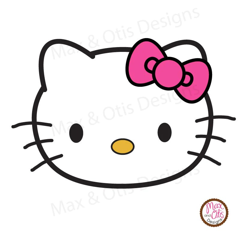 Cute Baby Girl Hd Wallpaper Download Hello Kitty Face Printable Sign Banner Max Amp Otis Designs