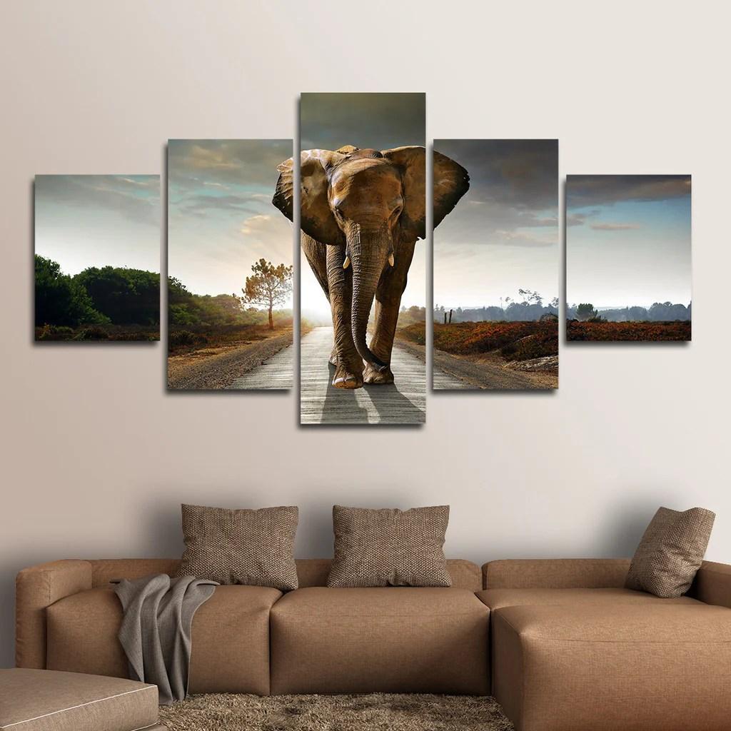 Elephant Stock Multi Panel Canvas Wall Art  ElephantStock