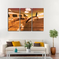 Gold Flight Multi Panel Canvas Wall Art | ElephantStock