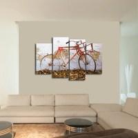 Rustic Bike Multi Panel Canvas Wall Art | ElephantStock