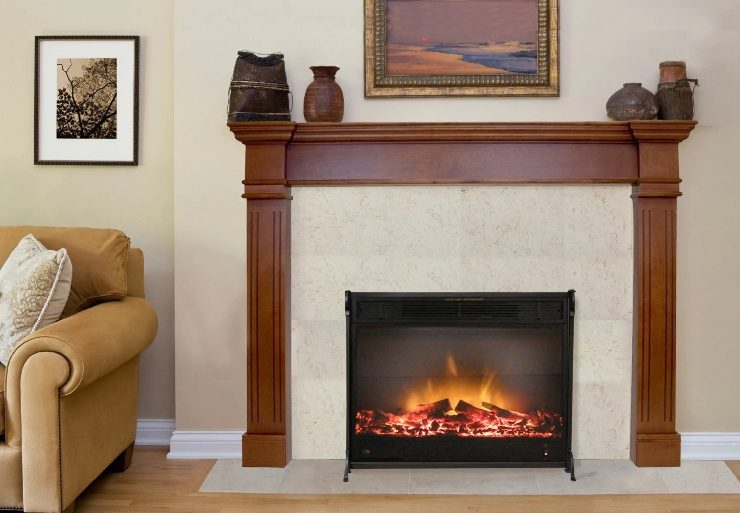 6 Ft Fireplace Mantel Harbour 6 Ft Mahogany Fireplace Mantel Shelf Paramountathome