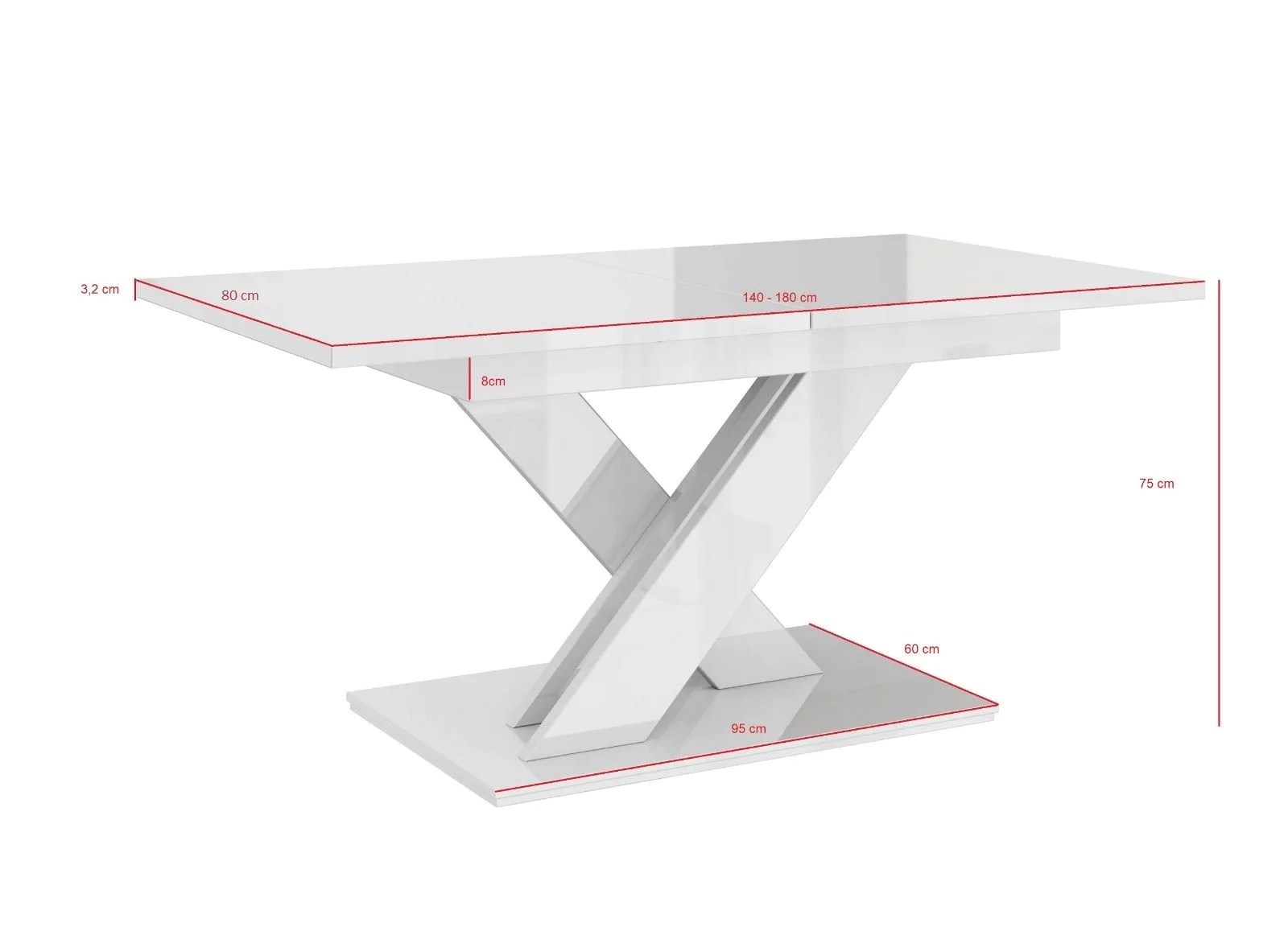 Table 140 Dining Table Vigo Ii Extendable 140 180cm