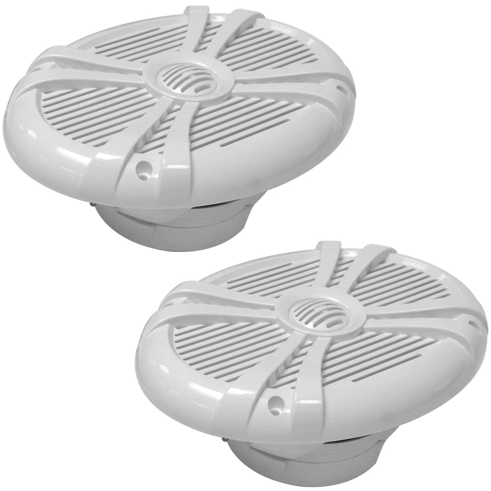 500 Watt Sa Ms69w Pair Of 500 Watt 6 X 9 Inch 2 Way Waterproof Boat Marine Speakers 1000 Watts Total