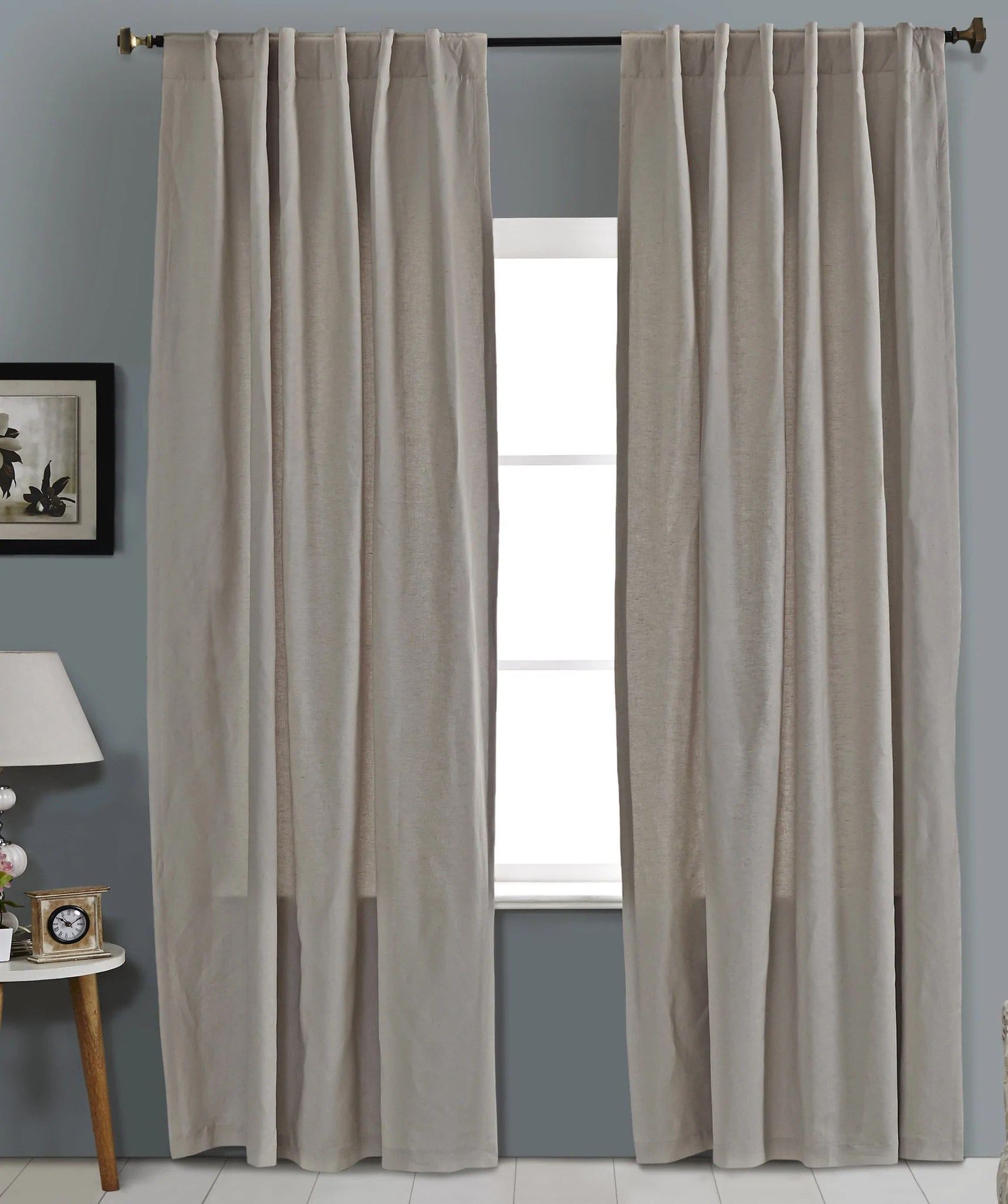 Cotton Curtain Panels Cotton Linen Drapery Panels Lined