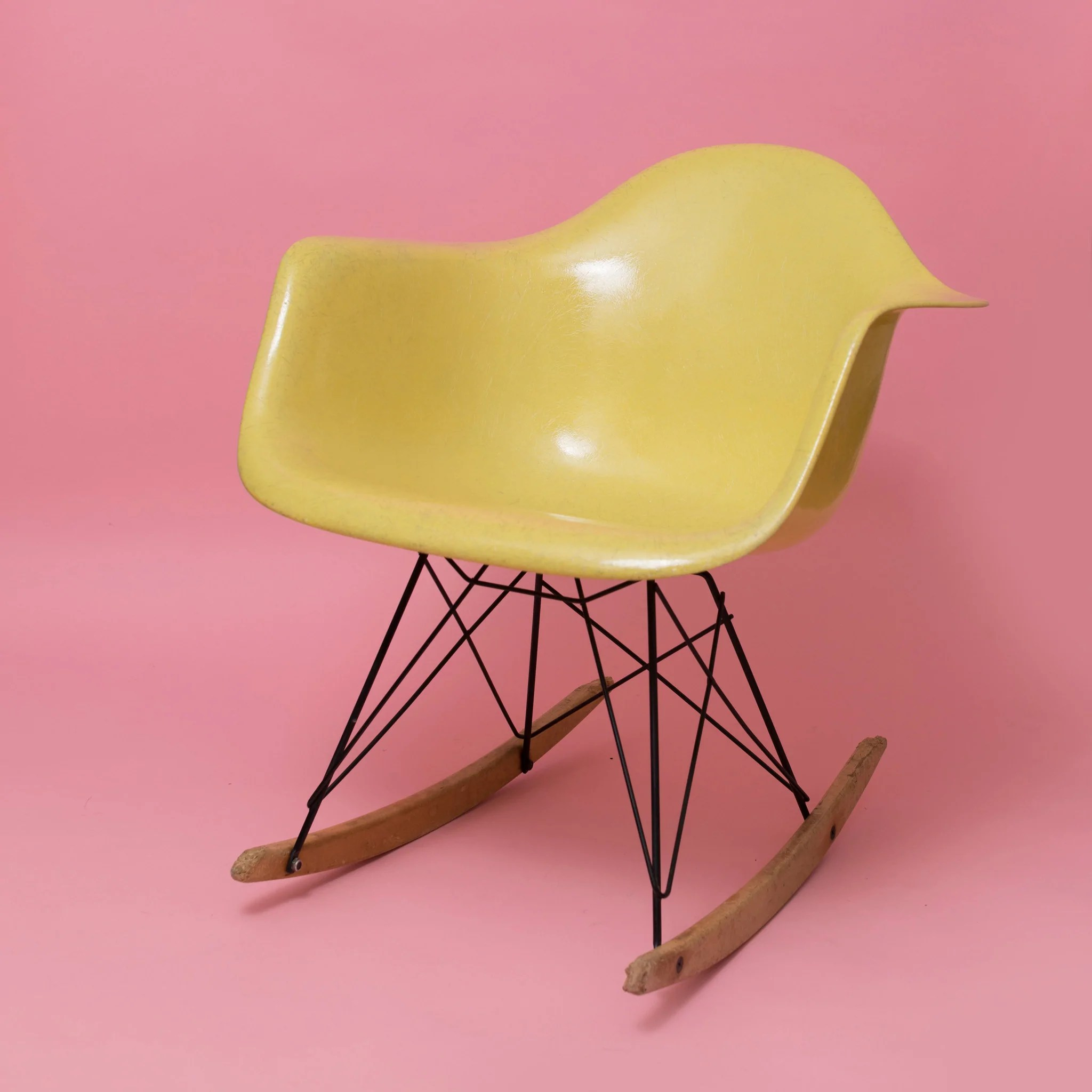 Eames Rar Lemon Yellow Herman Miller Rar Eames Rocking Chair