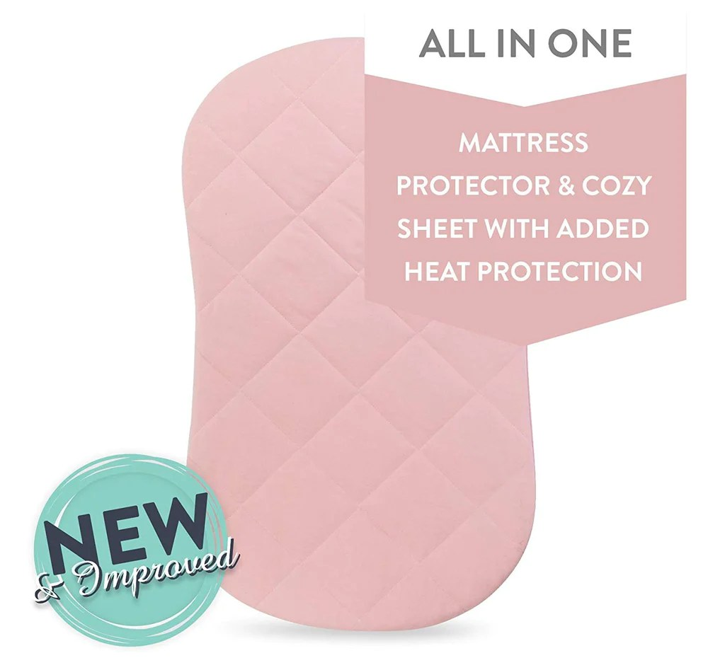 Bassinet Matress Protector Jersey Cotton Quilted Waterproof Hourglass Or Oval Bassinet Sheet