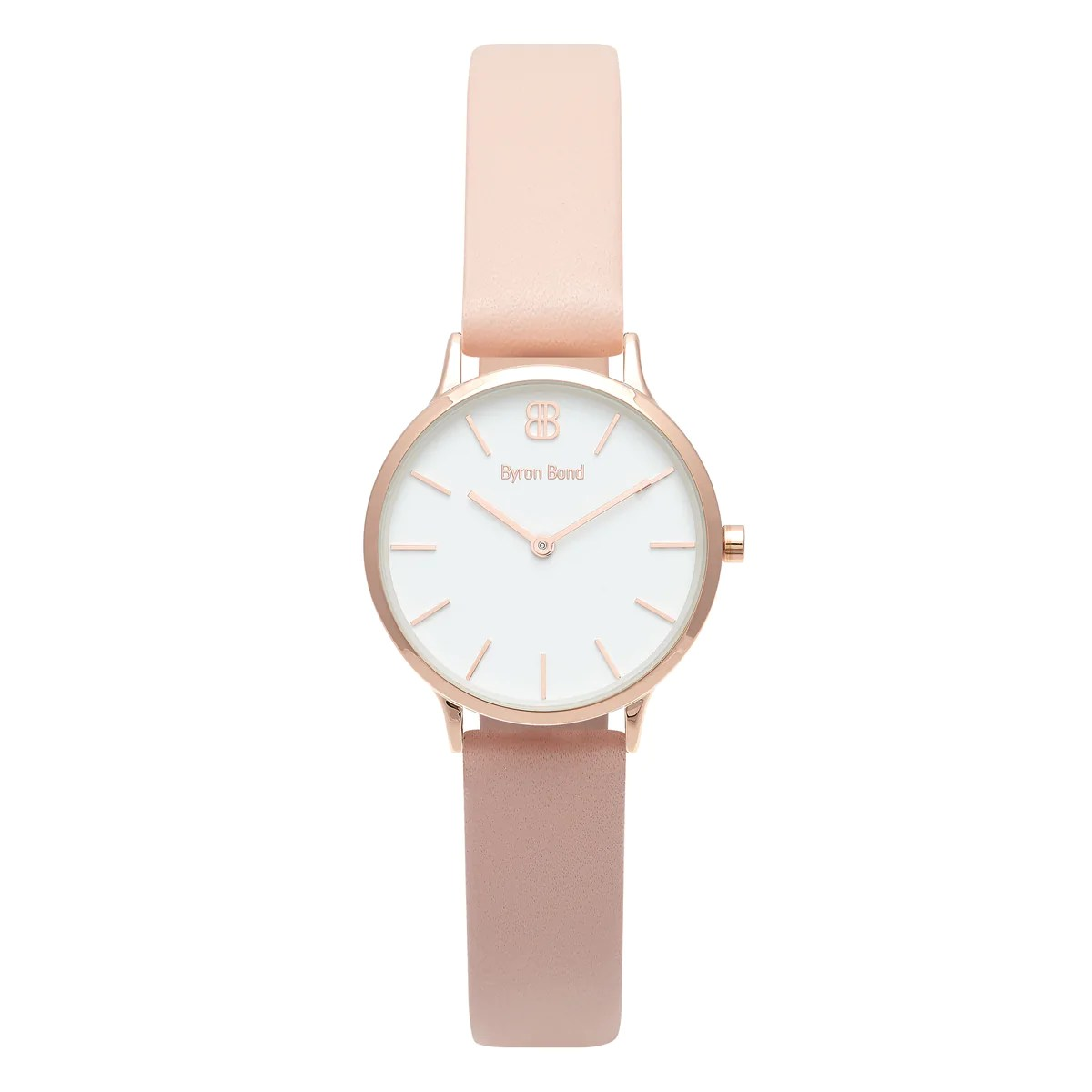 Leather Strap Rose Gold Watch Women S Small Rose Gold Watch White Dial Pink Leather Strap Mark 5 Victoria 32mm