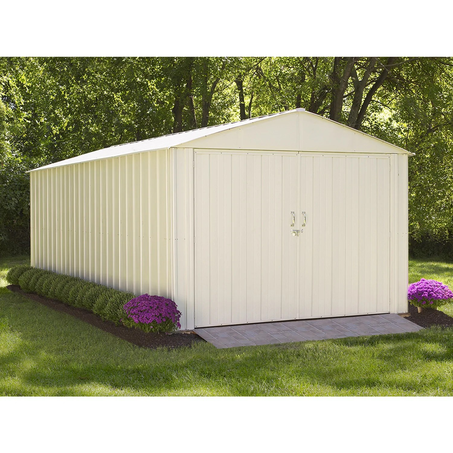 Buy Doors Online Commander Shed 10x20 Steel Extra Wide Swing Doors