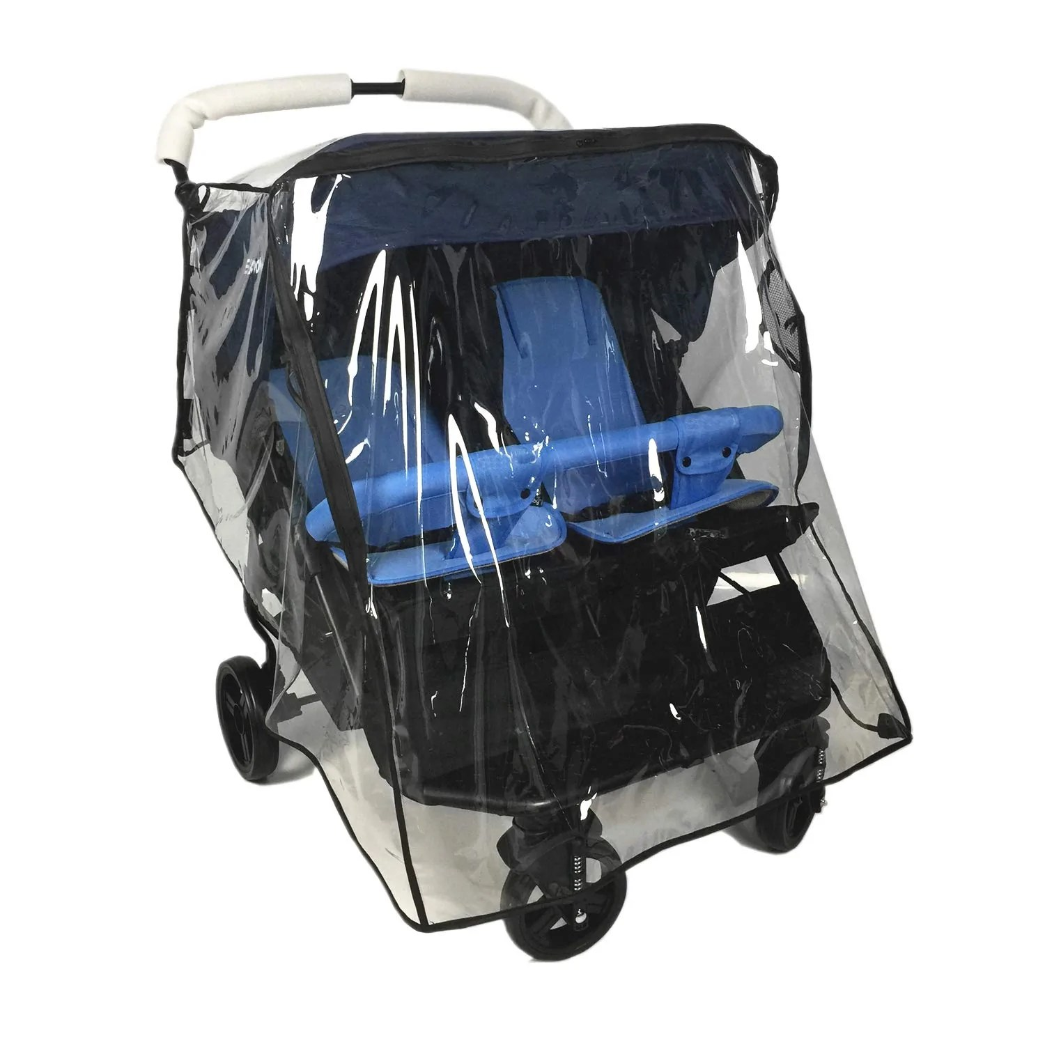Double Stroller Rain Cover Weather Shield For Double Stroller Universal Side By Side Baby Stroller Rain Cover