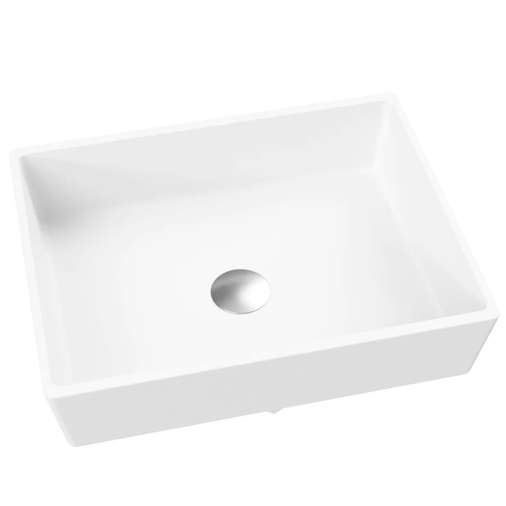 Kika Com Rectangular Vessel Or Wallmount Bathroom Sink 17