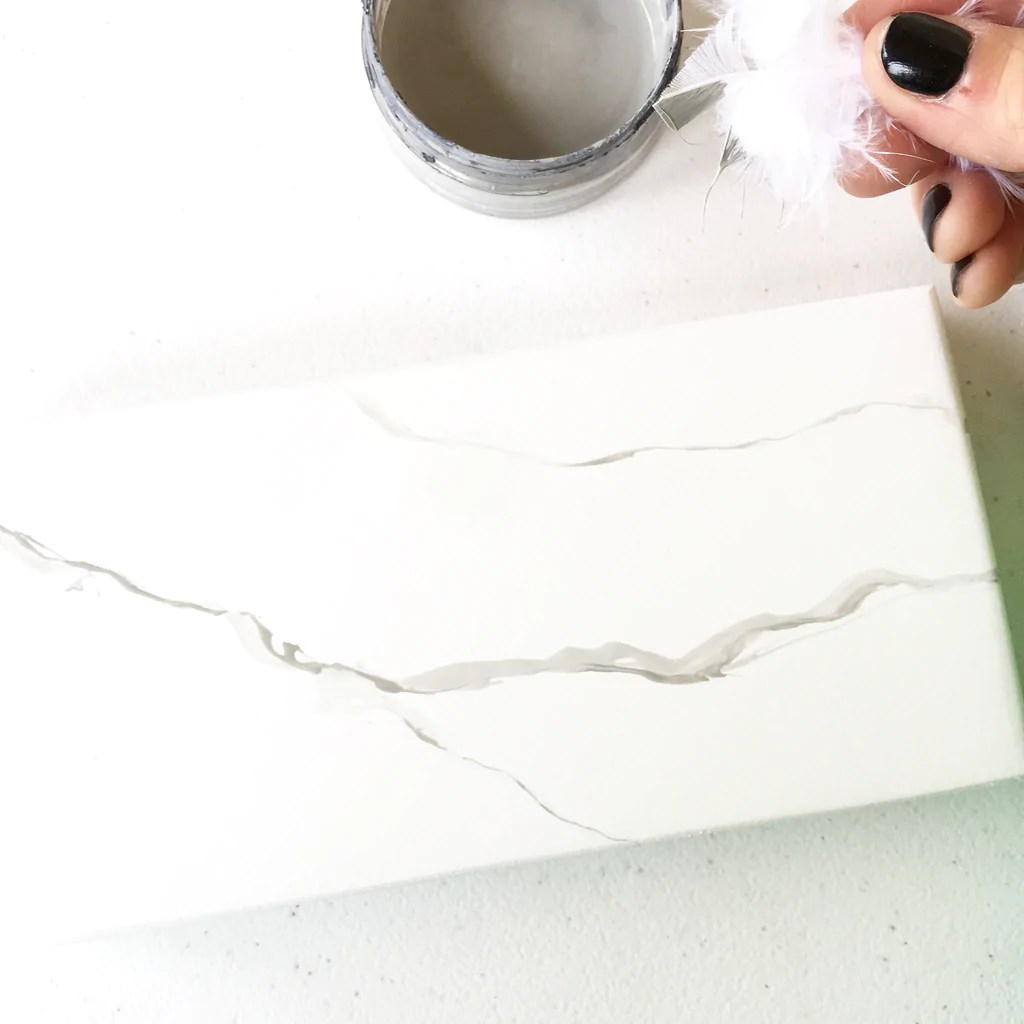 Hand Painted Faux Marble Tutorial Ava Berry Lane