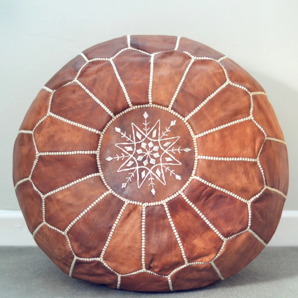 Moroccan Leather Pouf Design Sit Down Pinterest Leather Pre Order Moroccan Leather Pouffe Tan