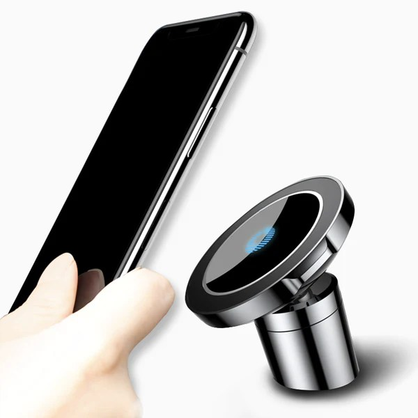 Sleek 360 Magnetic Car Mount With Qi Wireless Charging