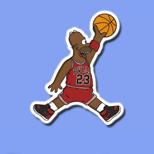 Dope Car Wallpapers Homer Simpson Jordan Vinyl Sticker Decal Buy Cool Stickers
