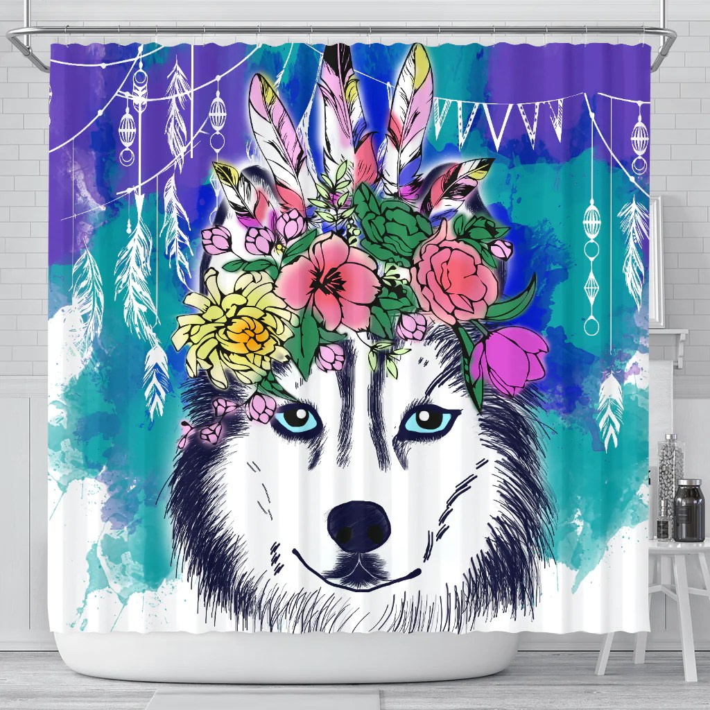 Husky Store I Know Husky Is Always With Me Shower Curtains