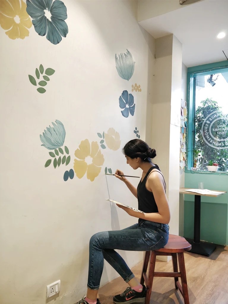 Painting A Wall Mural The Ink Bucket