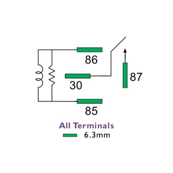 24 volt normally open relay