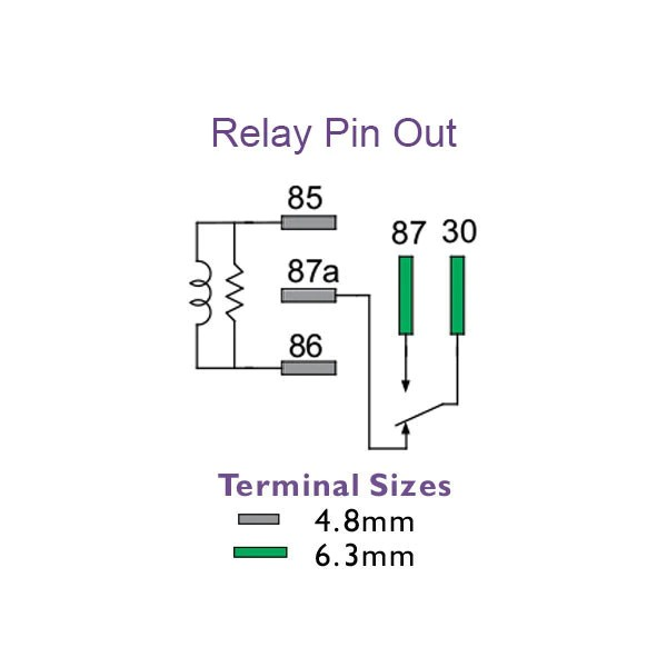 5 pin mini relay diagram