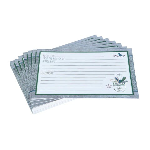 recipe card blank - Apmayssconstruction
