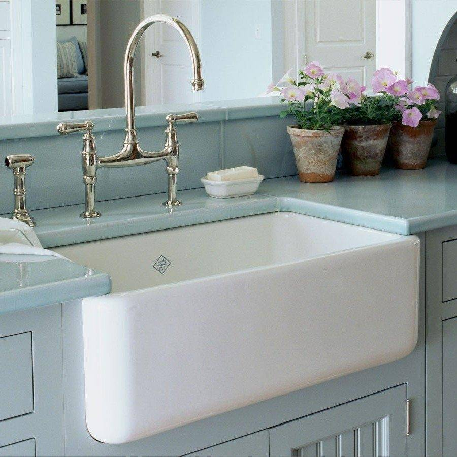 Shaw Farmhouse Sink Reviews Rohl Shaws Original Lancaster 30 In Fireclay Farmhouse Sink