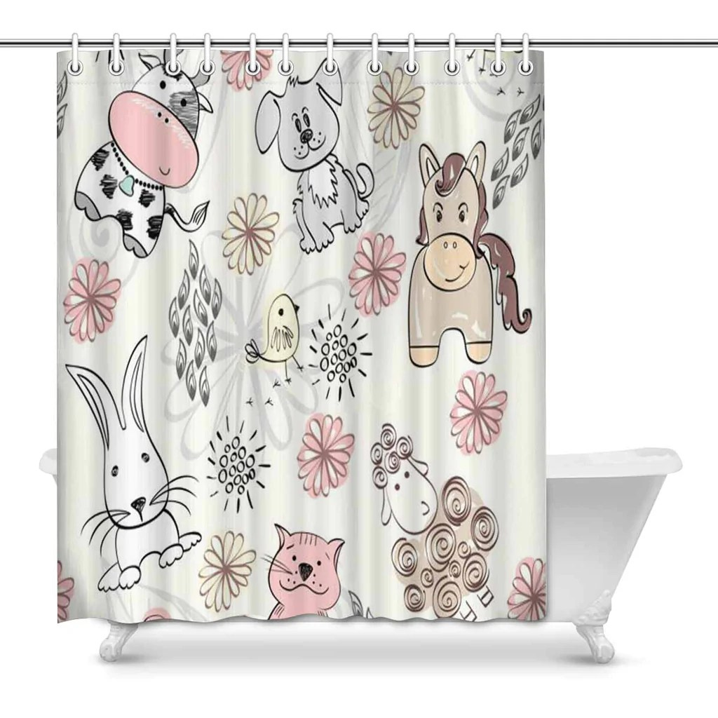 Cute Girly Shower Curtains Graphic Shower Curtains Free Shipping Tagged