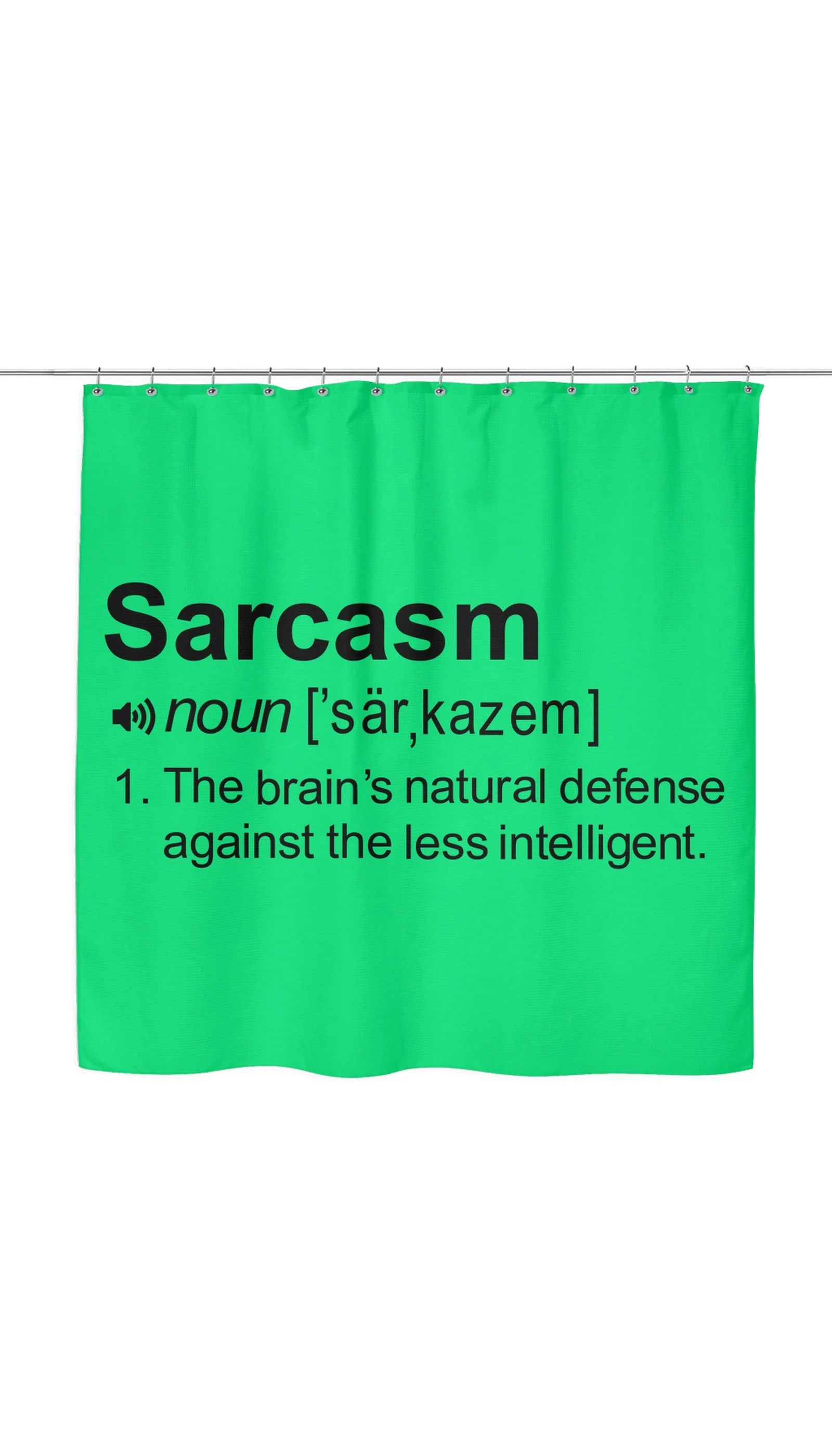 Shower Curtains For Less Sarcasm Noun Funny Clever Dorm Shower Curtain Gift Sarcastic Me