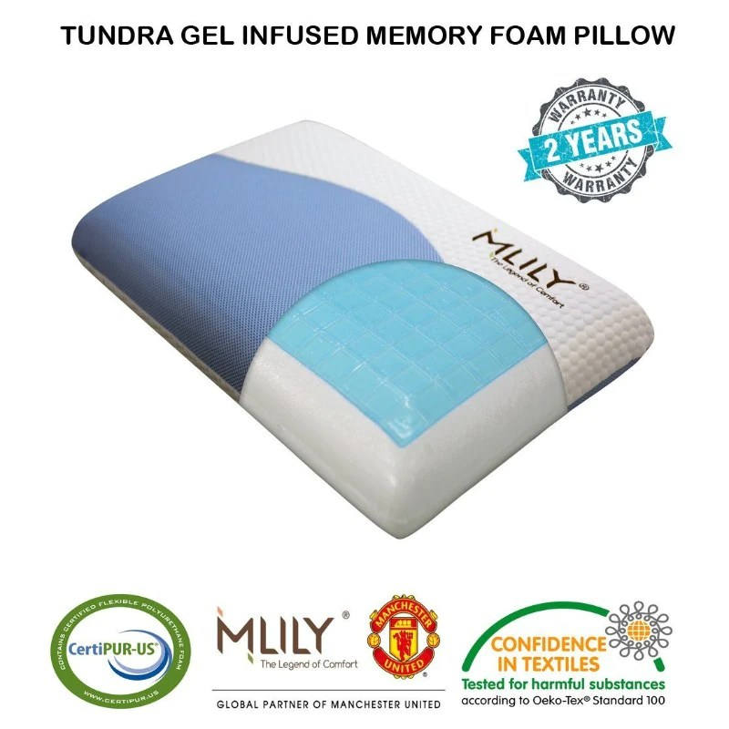 Gel Infused Memory Foam Pillow Mlily Tundra Gel Infused Memory Foam Pillow